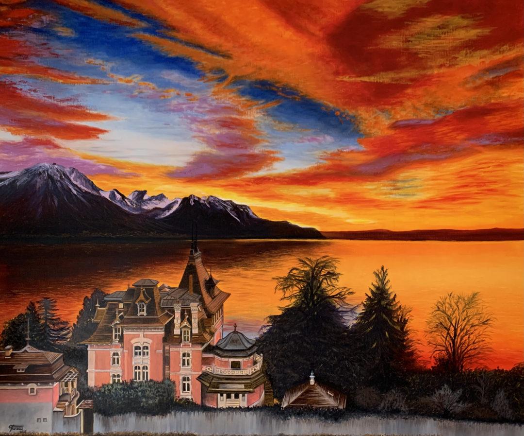 Sunset In Territet
